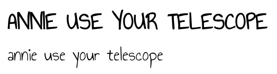 anne us your telescope font