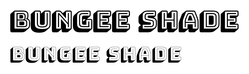 bungee shade font