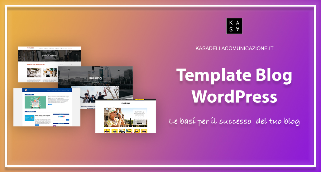 template blog wordpress